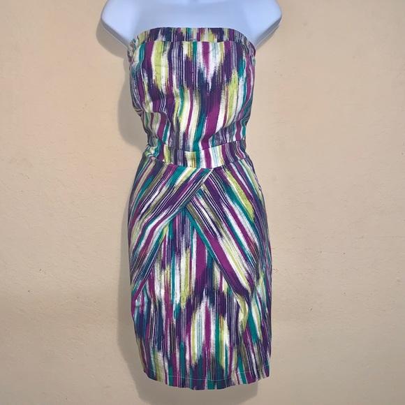 torrid Dresses & Skirts - Torrid striped strapless dress size 16